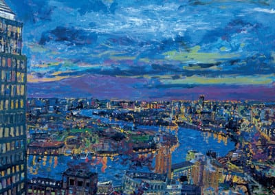 10 Night the City from HSBC 2005 98X122cms SOLD