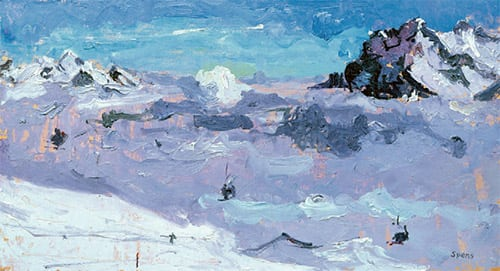 11 Early morning Lauberhorn 2011 22x40cms SOLD
