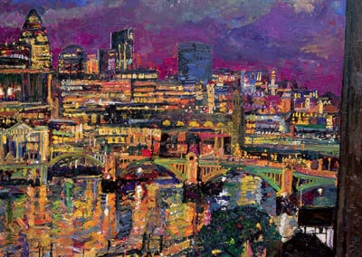 13 Night Southwark Bridge from Tate Modern 2007 141x122cms POA