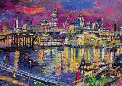 15 Night The City from Tate Modern 2007 102x153cms SOLD