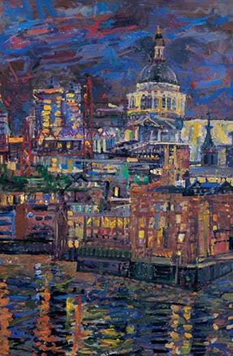 2 Night St Pauls from Riverside House 2004 122x81cms SOLD