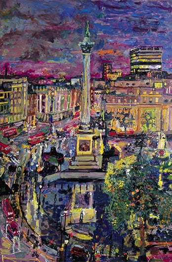 5 Night Trafalgar Square from Five Strand 2006 132x88cms SOLD