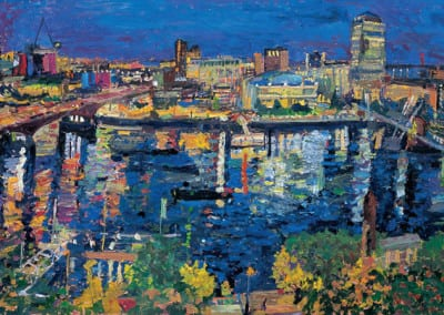 6 Night the city and St Pauls from 80 Strand 2005 79x122cms POA
