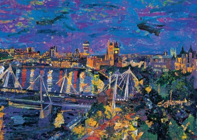 8 Night Westminster from 80 Strand 2009 102x153cms SOLD