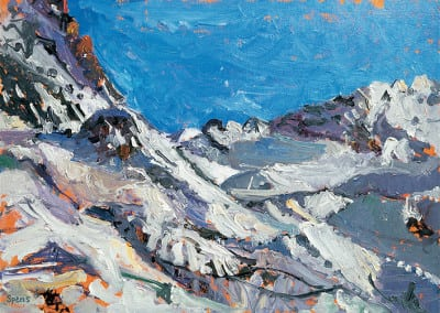 9 Bright afternoon Val Thorens 2009 29x41cms SOLD