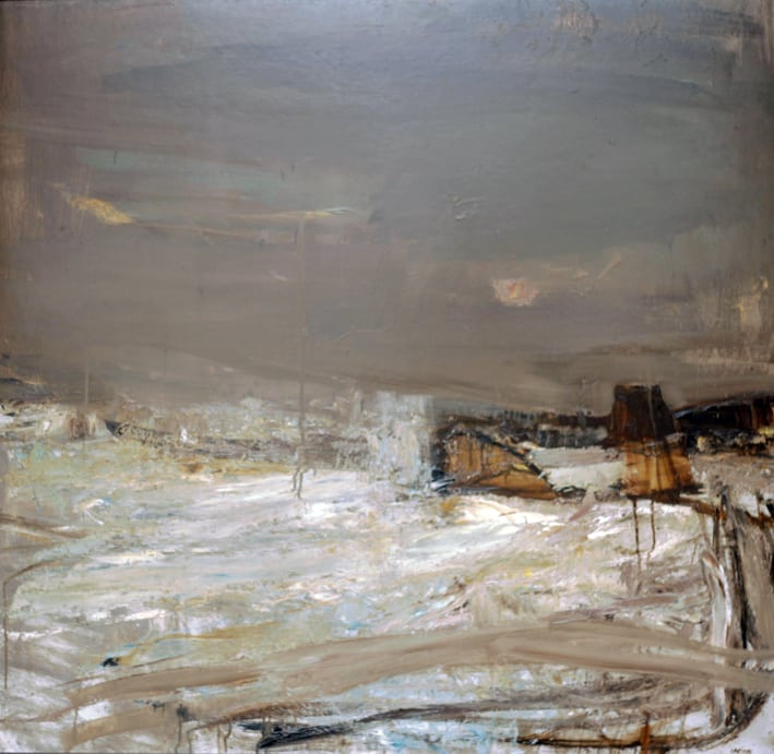 Joan Eardley R.S.A. 1921-1963, Winter Sea, Oil on Board, 46_x48_, Provenance George Plante, U.S.A. (purchased from R.S.A 1960), Exhibited R.S.A 1960