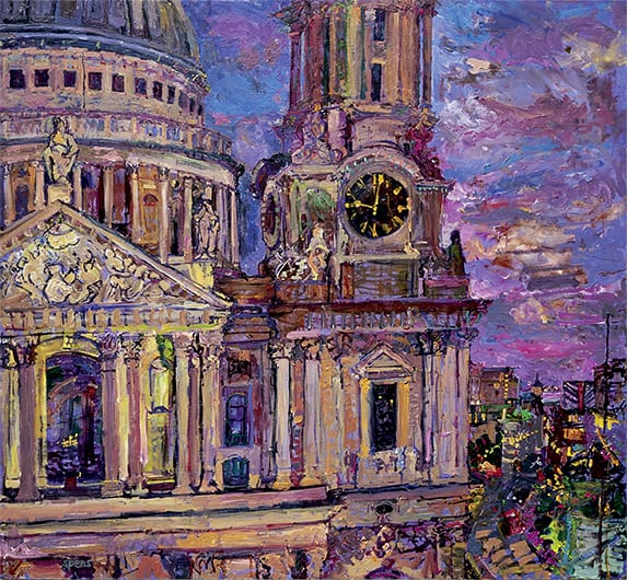 Night St Pauls from One St. Pauls Churchyard 2006
