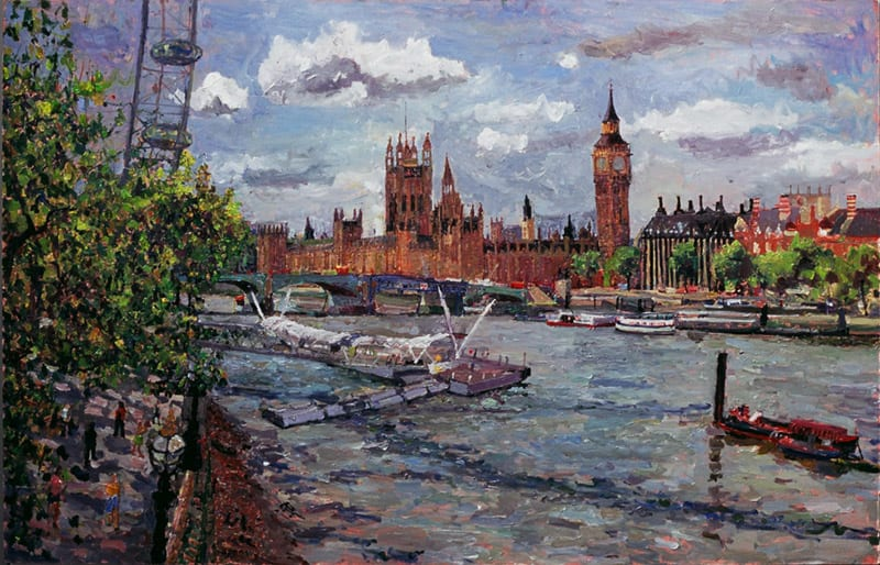 Parliament from the Jubilee Bridge