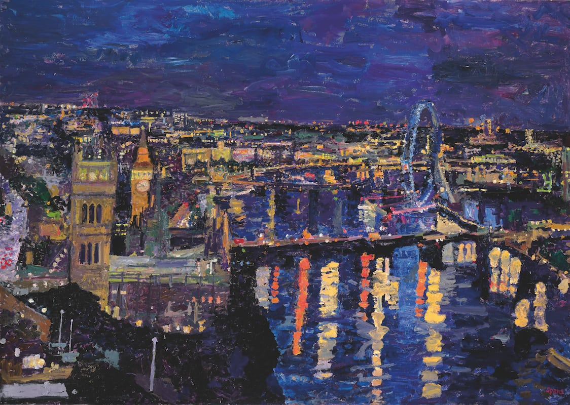 Night Westminster from Millbank