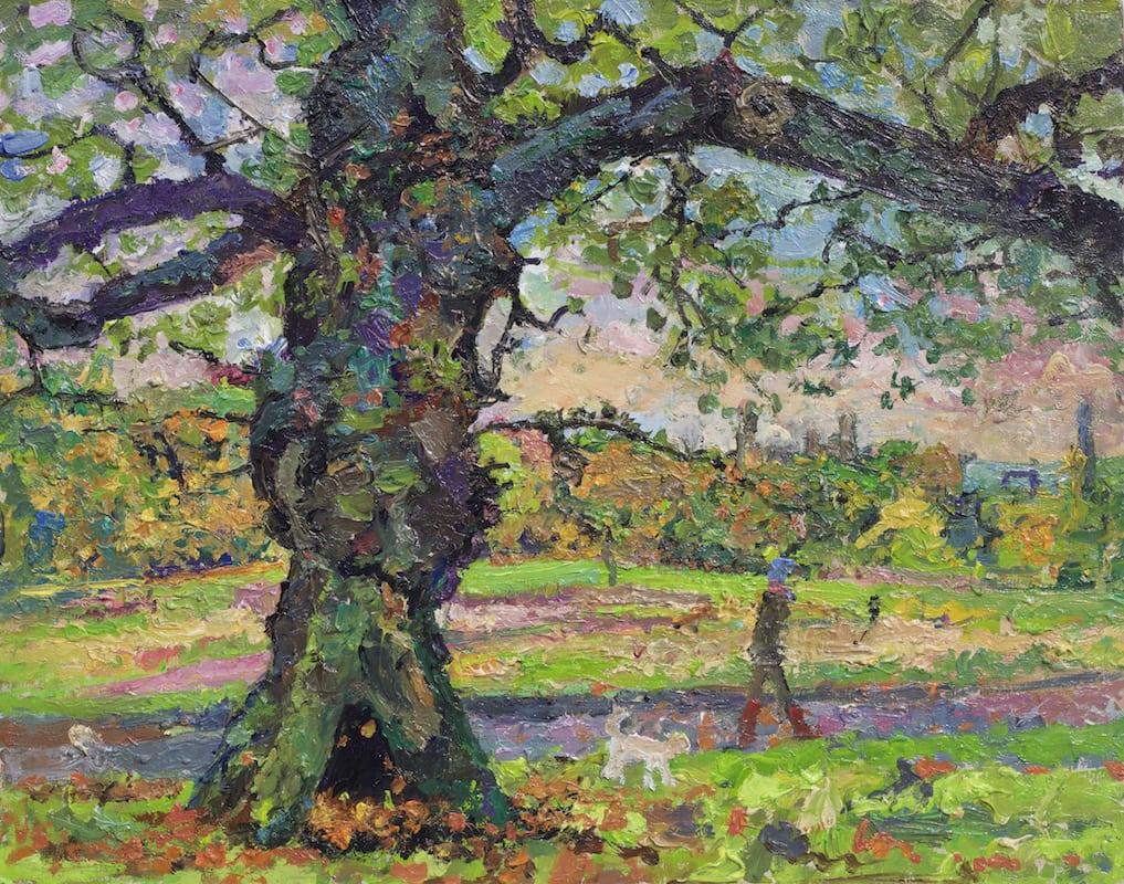 Autumn oak Hampstead Heath