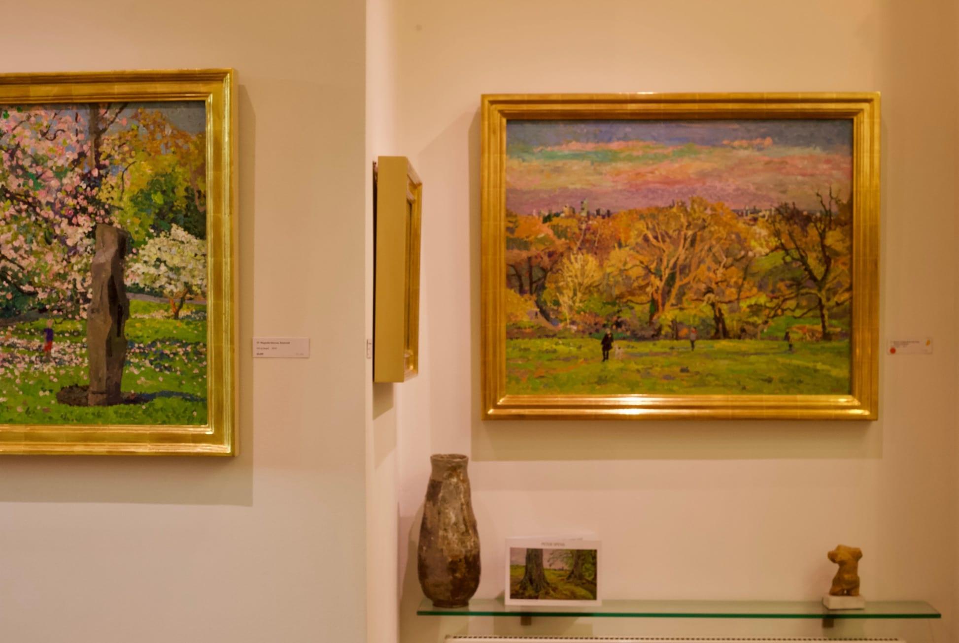 Cranley Gallery Highgate Peter Spens Hampstead Heath Gallery Installation 3
