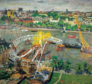 1 The London Eye under construction 1999 95x103cms SOLD.jpg