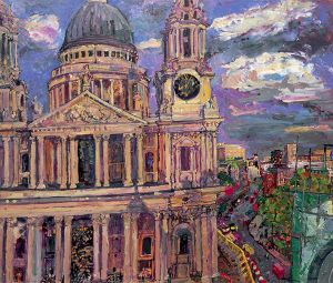 8 From the roof of One St Pauls Churchyard Evening 2006 86x103cms POA.jpg
