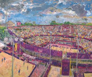 Beach Volleyball Stadium From Horse Guards 2012