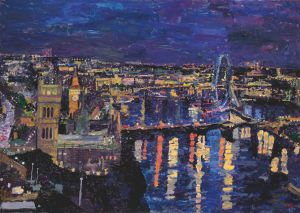 Night, Westminster from Millbank 2013